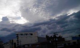 Molnig storm Arkivfoto