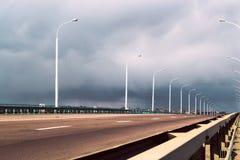 molnig väg Arkivbilder