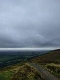 Molniga himlar över dalarna Fotografering för Bildbyråer