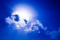 molniga skies Royaltyfri Foto