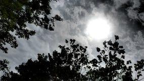molniga skies Royaltyfri Fotografi