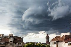 molniga skies Royaltyfri Bild
