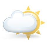 molnigt delvis Arkivbilder