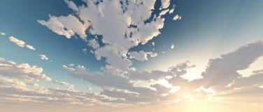 Molnigt dramatiskt himmelsolsken stock illustrationer