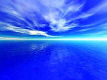 molnigt hav Arkivfoto