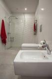 Molnigt hem - badrum royaltyfria bilder