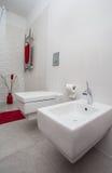 Molnigt hem - toalett, bidé royaltyfria bilder