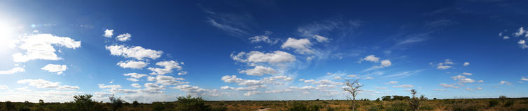 Molnigt panorama- Arkivfoton