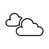 Molnigt väder isolerad symbol stock illustrationer