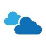 Molnigt väder isolerad symbol vektor illustrationer