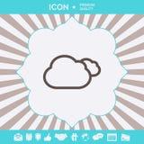 Molnlinje symbol Grafiska beståndsdelar för din design royaltyfri bild