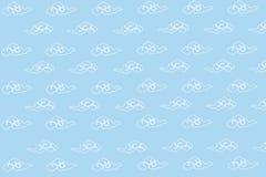 Molnmodell i Ligth blå himmel Vektor Illustrationer