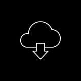 Molnnedladdninglinje symbol, vektor illustrationer