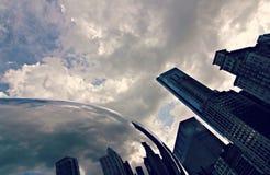 Molnportmonument i Chicago Illinois Arkivbild