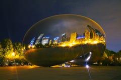 Molnportskulptur i millenium parkerar Arkivfoton