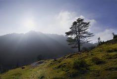 Molnslut i Uttarakhand Royaltyfri Bild