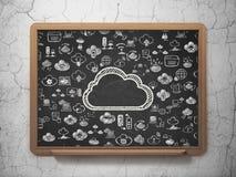 Molnteknologibegrepp: Moln på skolförvaltningbakgrund royaltyfri illustrationer