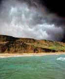 Molnvirvel över Blacket Sea, Krim Arkivbild