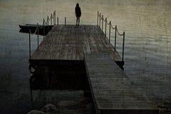 Molo abbandonato Fotografia Stock