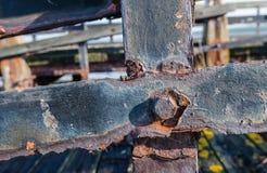 Molo abbandonato dalla fine Immagine Stock