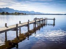 Molo al Chiemsee fotografia stock libera da diritti