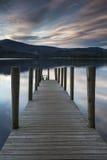 Molo al lago Immagini Stock