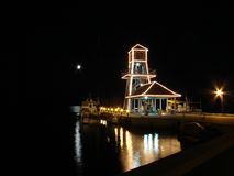 Molo alla notte Fotografia Stock