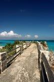 Molo alla spiaggia dei signori del sam, Barbados Immagine Stock