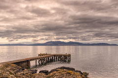 Molo antico a Portencross Scozia Fotografia Stock