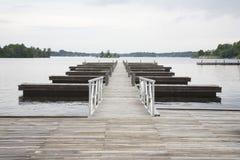 Molo in assenza del lago fotografia stock libera da diritti