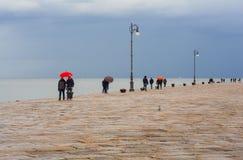 Molo Audace, Trieste Fotografia Stock