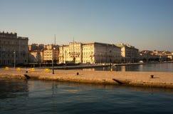 Molo Audace, Trieste Fotografía de archivo