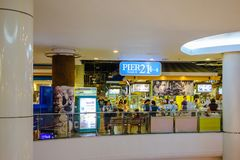 Molo 21 Bangkok, Terminal 21 zakupy centrum handlowego Karmowy sąd Zdjęcie Royalty Free