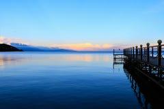 Molo brzeg rzeki Obrazy Royalty Free