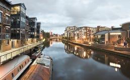 Molo del fiume di Leeds Immagine Stock