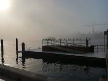 Molo del fiume del Dubai fotografia stock libera da diritti