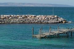 Molo del terminale di traghetto di Penneshaw sull'isola del canguro in Austr del sud Immagini Stock