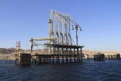 Molo dell'olio in mare colto Fotografia Stock Libera da Diritti