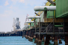 Molo dell'olio nell'est Immagine Stock