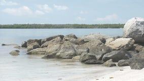 Molo della roccia stock footage