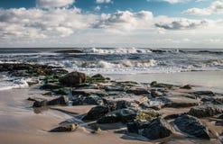 Molo della spiaggia Fotografie Stock