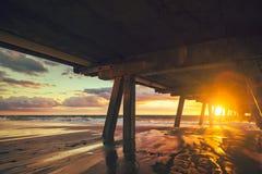 Molo della spiaggia di Glenelg Immagine Stock Libera da Diritti
