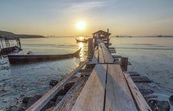 Molo di Jelutong Fotografia Stock