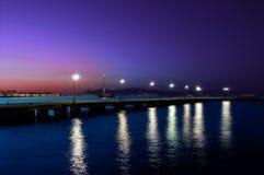 Molo di Kos. Pier in the evening on this beautiful coast Stock Photos