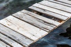 Molo di legno Immagini Stock