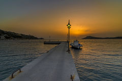 Molo di Myrties, Kalymnos Fotografia Stock