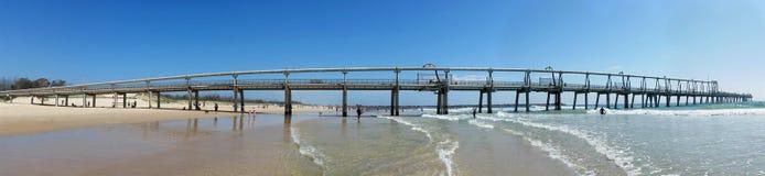 Molo di pompaggio la Gold Coast Australia della sabbia fotografia stock
