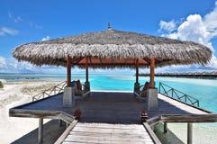 Molo di stile dei Maldives Immagini Stock