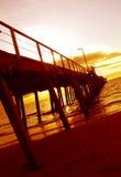 Molo di tramonto Fotografie Stock Libere da Diritti