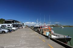 Molo di Whakatane, Nuova Zelanda Fotografia Stock